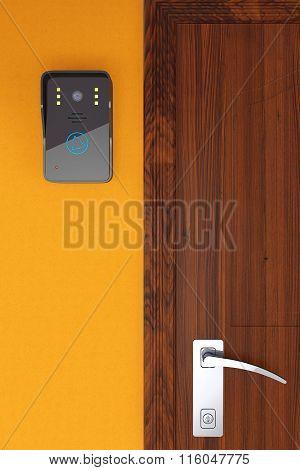 Modern Video Intercom Near Door