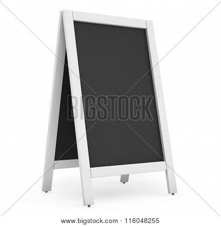 Blank Menu Blackboard Outdoor Display