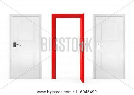 Success Concept. Three Doors