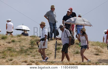 Gallery Of Spectators At The Golf French Open 2015