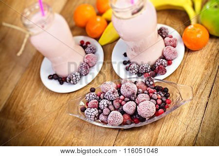 Frozen fruits - frozen berry fruits