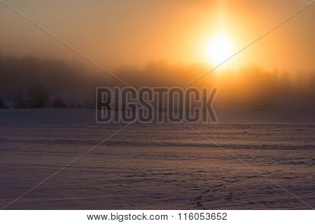 Cold winter sunrise