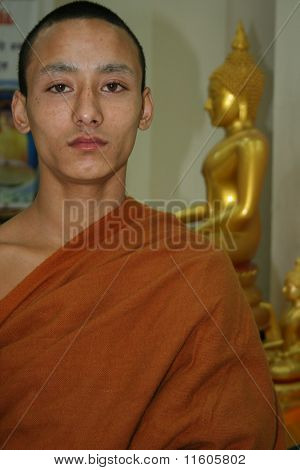 Portrait Of A Young Monk.