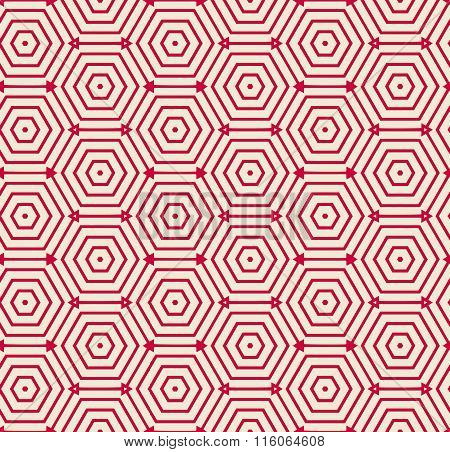 Red pattern geometric vector background.