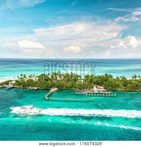 Sea And Sky. Beautiful Landscape Caribbean Sea. Bahamas