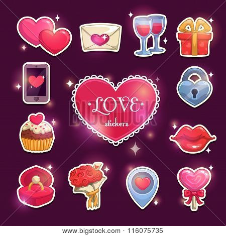 Beautiful love and passion stickers