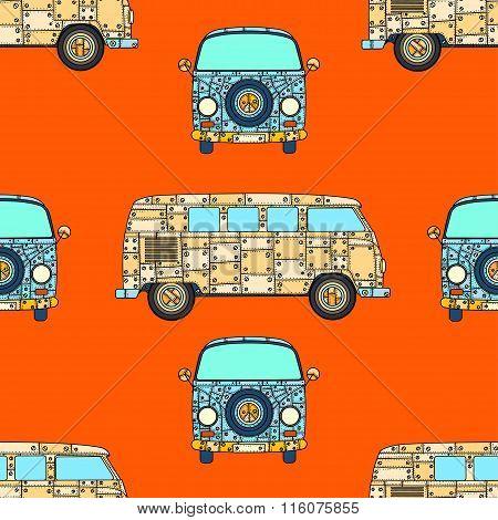 Pattern Of Vintage Car