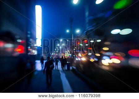 Street lights of Ulan-Bator