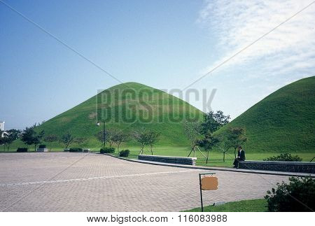 Ancient Burial Mounds from the Silla Dynasty
