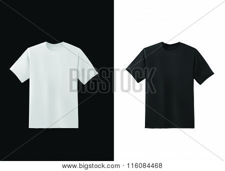 T-shirt black and white template