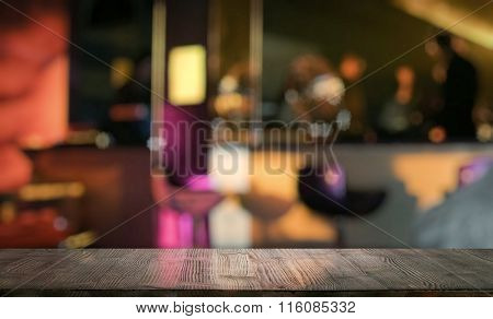 bar in a night club