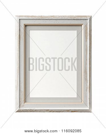 Vintage picture frame isolated on white