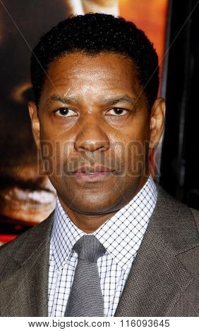 WESTWOOD, CALIFORNIA - October 26, 2010. Denzel Washington at the Los Angeles premiere of
