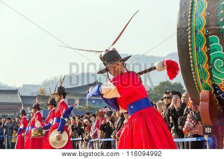 Guards At Gyeongbokgung Palace