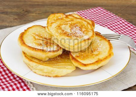 Tasty Pancakes with Sugar Stack