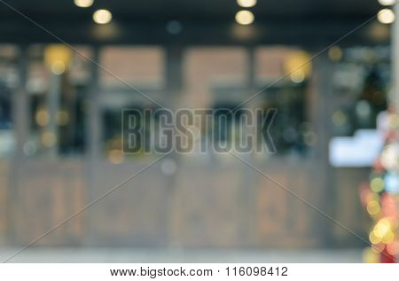 Abstract Blur Shop Or Restaurant Background