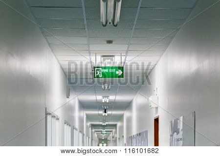 Fire Exit Sign In Factory