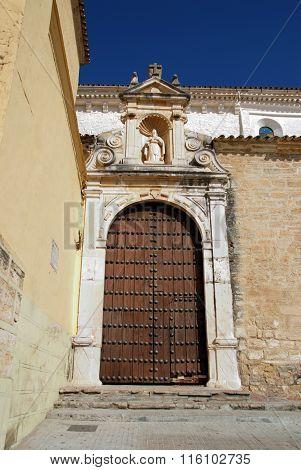 Soterrano church entrance, Aguilar de la Frontera.