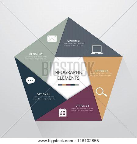 Infographic Elements Pentagon