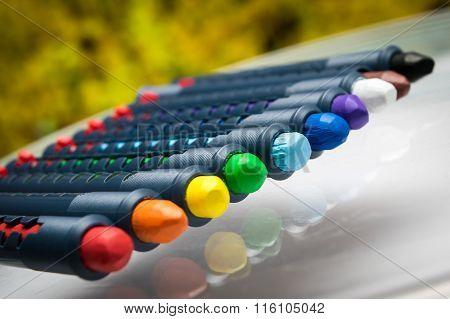 pencils crayons wax set