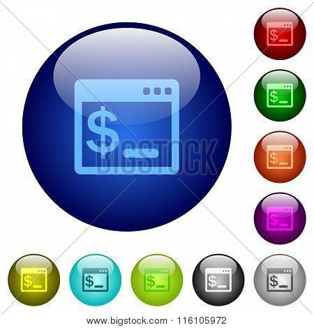 Color Linux Terminal Glass Buttons
