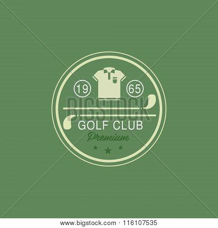 Glod Club Emblem. Vector Illustration