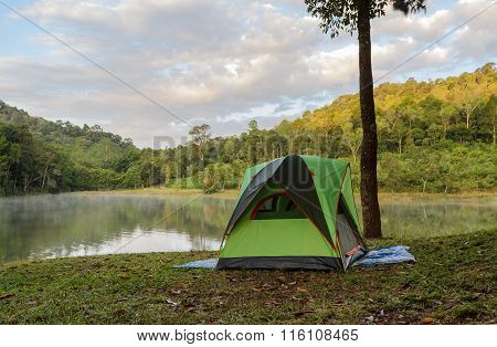 Camping Tents Near Lake