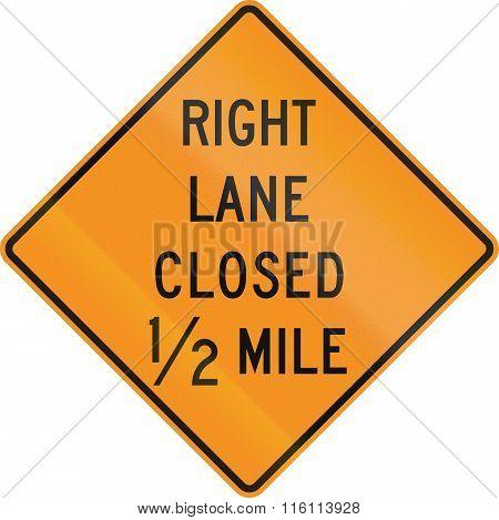 United States Mutcd Road Sign - Lane Closed