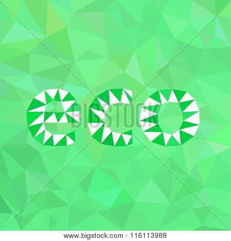 Abstract Green Background Eco.