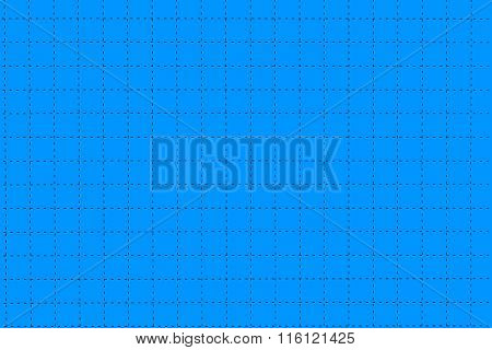 Blue Plastic Board With Dotted Line Like As Graph Paper