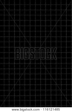 Black Plastic Board With Dotted Line Like As Graph Paper