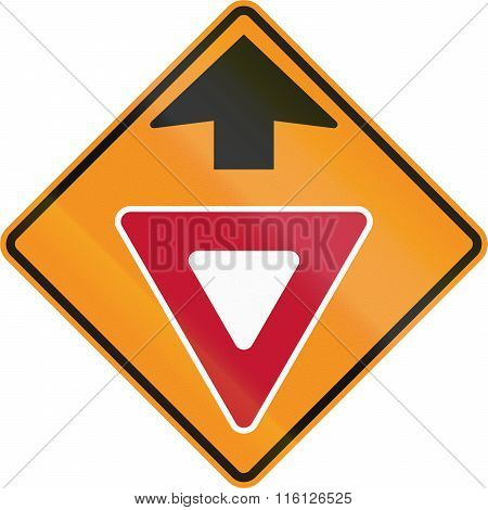 Temporary Road Control Version - Give Way Ahead