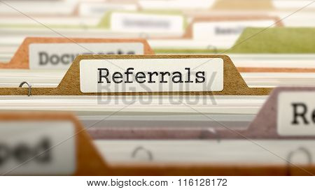 File Folder Labeled as Referrals.