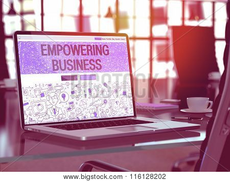 Empowering Business Concept on Laptop Screen.