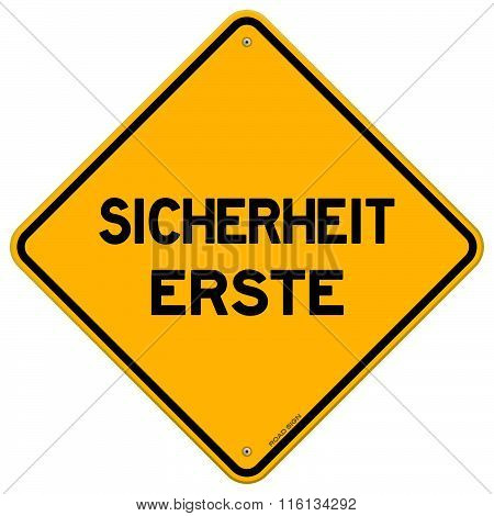 Isolated Single Sicherheit Erste Sign
