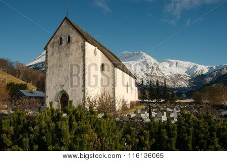 Kvinnherad Church (Norwegian: Kvinnherad kyrkje) in the village of Rosendal, Norway