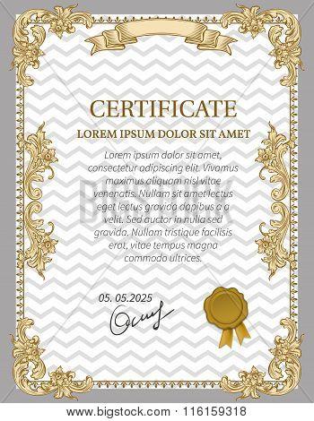 Gold Certificate of Achievement