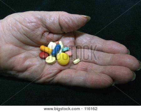 Pills In Aged Hand 3