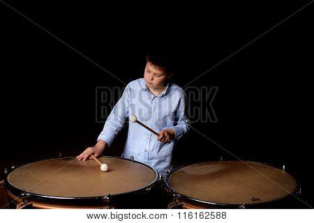 Little Drummer With Drumsticks
