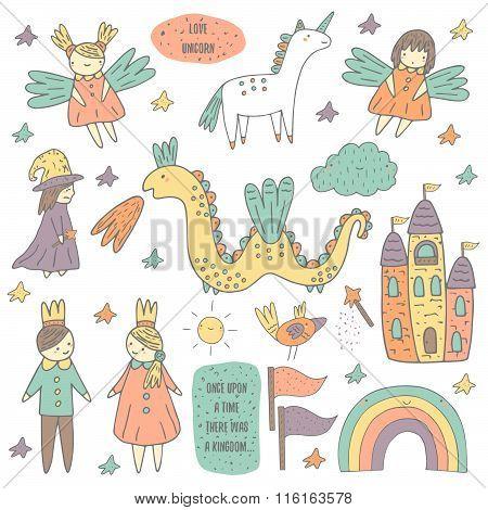 Fairy tale objects set
