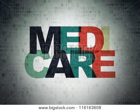 Healthcare concept: Medicare on Digital Paper background