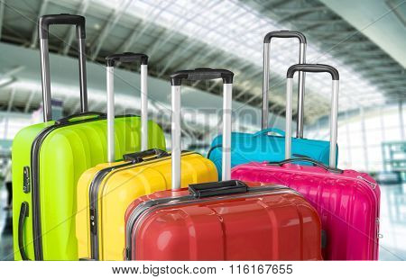 Luggage bags group large objects object merchandise