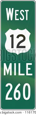 United States Mutcd Road Sign - Distance Road Marker
