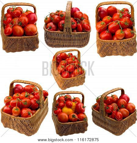 Basket With Tomatoes.