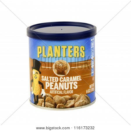 Can Of Planters Salted Caramel Peanuts