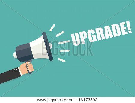 Hand Holding Megaphone - Upgrade