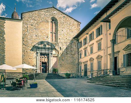 Antique Church In Arezzo, Italy