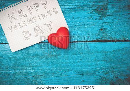 Note Happy Valentine's Day