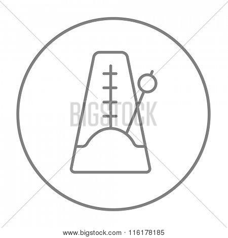 Metronome line icon.