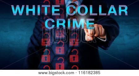 Detective Pressing White Collar Crime Onscreen